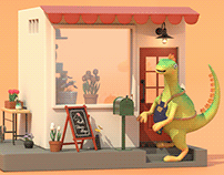 花店小恐龍   3D Animation