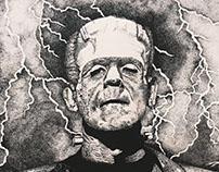 Pointillism - Frankenstein's Monster