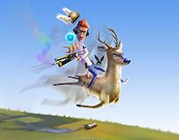 Digital illustration - Deer Cheer up