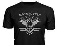 Motorcycle T-shirt design bundle with free mockup