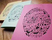 Typographic easter card