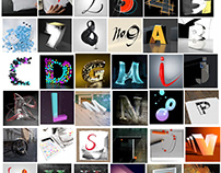 36 days of type (2018) (learning Cinema 4d)