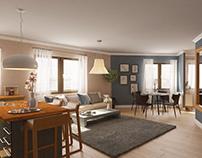 INTERIOR DESIGN kitchen, living & dining room