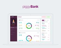 piggyBank - Personal Expense App Concept Design