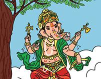 Nritya Ganpati - Lord Ganesha Illustration 2020