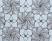 Tessellation with Flowers and Leaves, Fall 2015