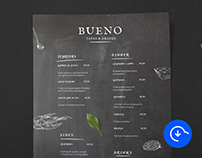 Free Tapas Restaurant Menu Template