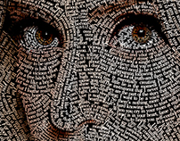 Typographic Portrait: Lady Gaga