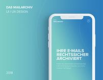 Das Mailarchiv | Landing Page Design