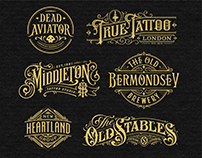 Vintage style lettering
