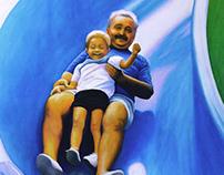 """""""DONDE CAEN LOS AÑOS"""" - oil on canvas - 60x80 cm"""
