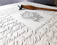 """Chronologie"" - calligraphy like a clockwork"