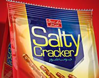 Salty crackers packaging