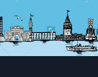 istanbul graphic design vector art