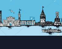 istanbul graphic design vector art