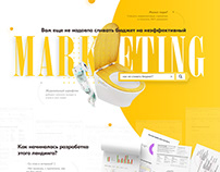 Marketing agency landing design