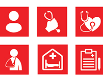 Icons for medical company's website