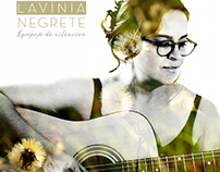 Arte para CD Equipaje de silencios de Lavinia Negrete
