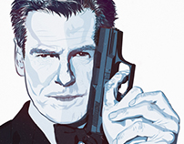 Pierce Brosnan portrait