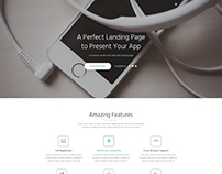 App Landing PSD Theme