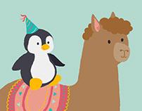 Penguin and Alpaca   2D animation