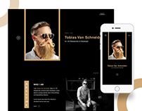 Creative Personal Landing Page Concept