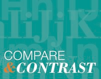 Compare & Contrast: Typeface Book Layout