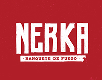 Logo, Tipografia e ilustración para Nerka