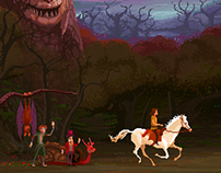 Neverending Story Pixel Art