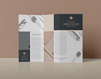 Free Z-Fold Brochure Mockup PSD