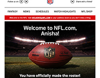 NFL Welcome Email, Survey.