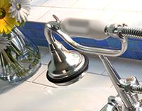 Bath Faucet CGI Rendering