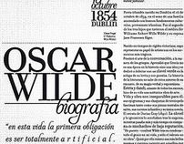 Wilde´s life · diseño editorial ·