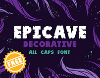 EPICAVE decorative all caps font FREE