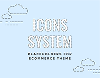 Iconography as placeholders for ecommerce theme
