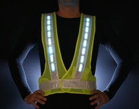 U-ROAD Active Lighting Safety Vest