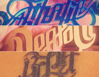 Ambigrams for Necklaces and Tattoo