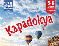 Kapadokya Gezisi Broşür Çalışması