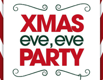RED KITCHEN - XMAS PARTY FLIER