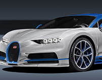 Bugatti Chiron Blue White