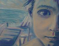 'Sad seaside'  dry pastels on colored (ecru) canson
