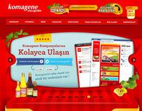 Komagene Çiğ Köfte - Web Arayüz Tasarımı