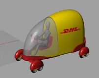 DHL delivery vehicles