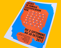 "Affiche ""Classification Vox"" I 2012"