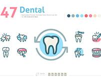 Dental Premium Color Vector Icon Set