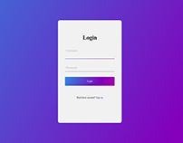 Login sample 5 - Html5 and Css3