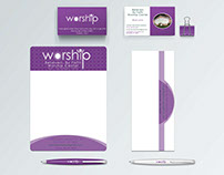 WorshipChurch,BusinessCard,Envelope,Letterhead,Welcome