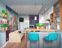 Interior design Loft.