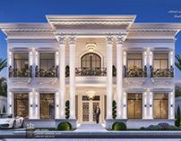 White classic villa