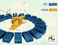UN & Syria by lego Cubes